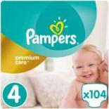 Подгузник Pampers Premium Care Maxi Размер 4 (8-14 кг) 104 шт Фото