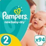 Подгузник Pampers New Baby-Dry Mini Размер 2 (3-6 кг), 94 шт Фото