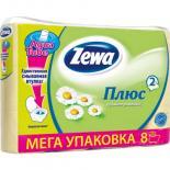 Туалетная бумага Zewa Plus 2-слойная Ромашка Желтая 8 шт Фото