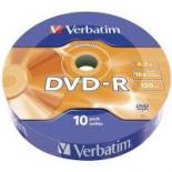 Диск DVD Verbatim 4.7Gb 16X Spindle Wrap box 10шт DATA LIFE Фото