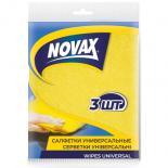 Салфетки для уборки Novax универсальные 3 шт Фото