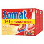 Таблетки для посудомоечных машин Somat Голд Duo 2x18шт Фото