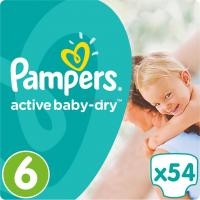 Подгузник Pampers Active Baby-Dry Extra Large Размер 6 (15+ кг), 54  Фото