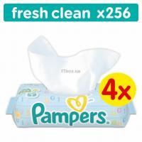 Влажные салфетки Pampers Fresh Clean 4х64 шт Фото