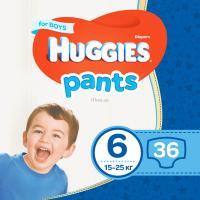 Подгузник Huggies Pants 6 для мальчиков (15-25 кг) 36 шт Фото