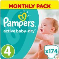 Подгузник Pampers Active Baby-Dry Maxi Размер 4 (8-14 кг), 174 шт. Фото
