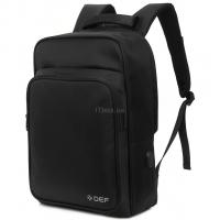 "Рюкзак для ноутбука DEF 15.6"" DW-02 anti-theft black Фото"