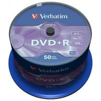Диск DVD Verbatim 4.7Gb 16x CakeBox 50шт Фото