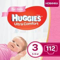 Подгузник Huggies Ultra Comfort 3 Box для девочек (5-9 кг) 112 шт Фото