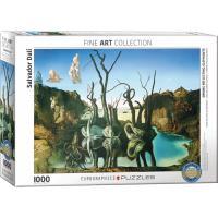 Пазл Eurographics Лебеди, отражающиеся в слонах. Сальвадор Дали. 100 Фото