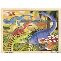 Пазл Melissa&Doug в рамці Динозаври, 24 елемента Фото