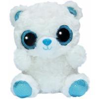 М'яка іграшка Aurora Yoo Нoo Полярный медведь сияющие глаза 20 см Фото