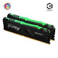 Модуль памяти для компьютера Kingston Fury (ex.HyperX) DDR4 16GB (2x8GB) 3200 MHz Fury Beast RGB Фото