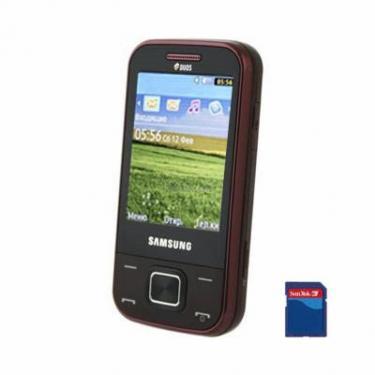 Мобильный телефон GT-C3752 (Duos) Wine Red Samsung (GT-C3752WRA) - фото 1