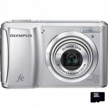 Цифровой фотоаппарат FE-47 silver OLYMPUS (N3842992) - фото 1