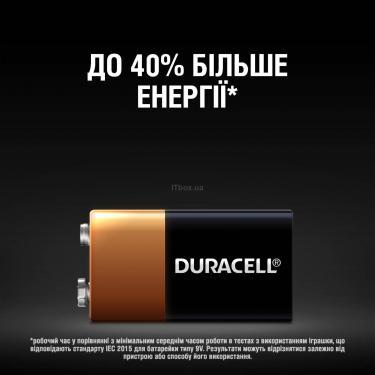Батарейка Duracell Крона 9V * 1 (5000394066267 / 81483681) - фото 4
