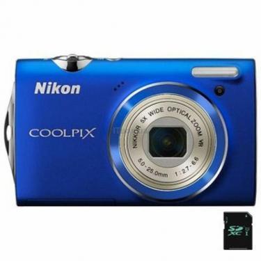 Цифровой фотоаппарат Coolpix S5100 blue Nikon (VMA645E1) - фото 1