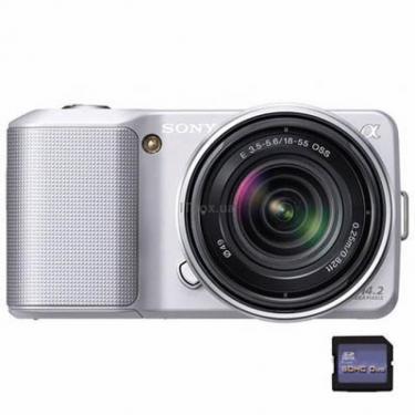 Цифровой фотоаппарат NEX-3 + объектив 18-55mm KIT silve Sony (NEX3KS.CEE2) - фото 1