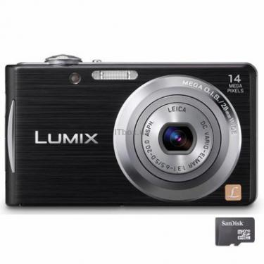 Цифровой фотоаппарат Lumix DMC-FS16 black Panasonic (DMC-FS16EE-K) - фото 1