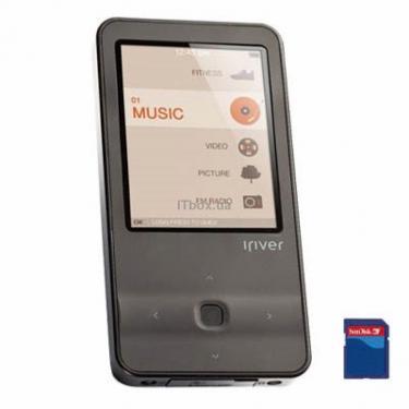 mp3 плеєр iRiver E300 4GB Black (3E3003C-RUBLN1) - фото 1