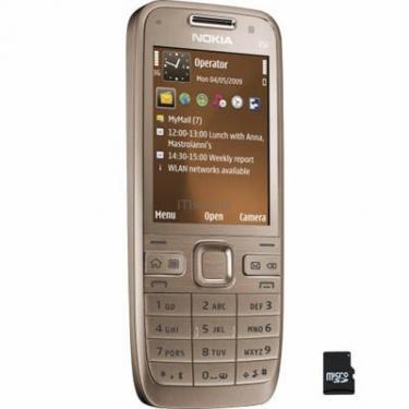Мобильный телефон E52 Golden Aluminium Nokia (002R433) - фото 1