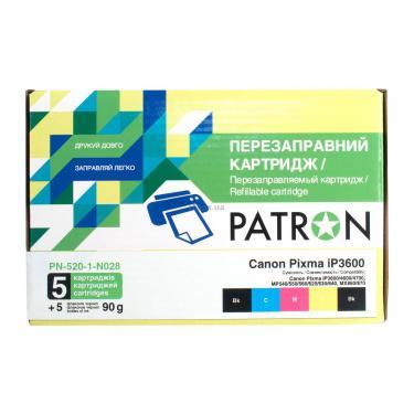 Комплект перезаправляемых картриджей PATRON CANON iP3600 (PN-520-1-N028) - фото 1