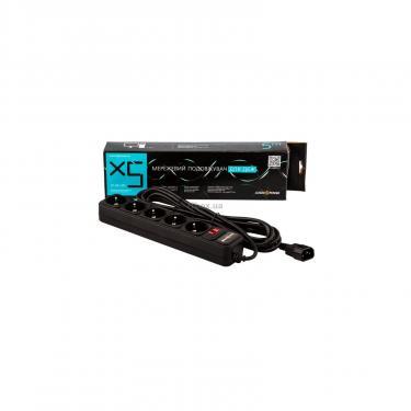 Мережевий фільтр живлення LogicPower LP-X5-UPS 5.0м, 0,75mm2, 10A (2755) - фото 2