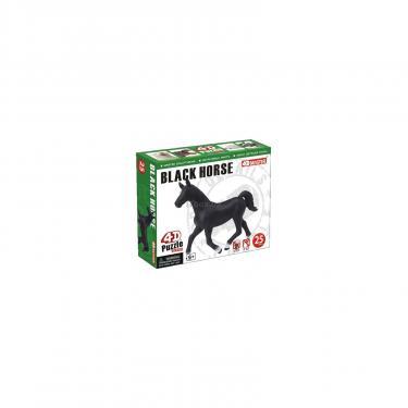 Пазл 4D Master Черная лошадь Фото