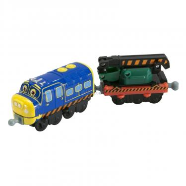 Интерактивная игрушка Tomy Chuggington Брюстер с вагоном-экскаватором Фото 2