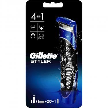 Бритва Gillette Fusion ProGlide Styler с кассетой+3 насадки для бороды/усов (7702018273386) - фото 2