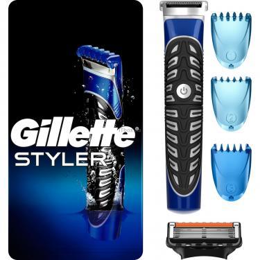 Бритва Gillette Fusion ProGlide Styler с кассетой+3 насадки для бороды/усов (7702018273386) - фото 1