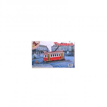 Сборная модель Мир деревянных игрушек Трамвай Фото