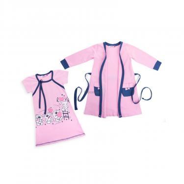 """Пижама Matilda и халат с мишками """"Love"""" (7445-134G-pink) - фото 1"""