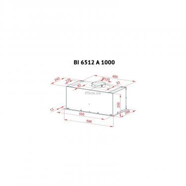 Вытяжка кухонная Perfelli BI 6512 A 1000 IV LED Фото 5