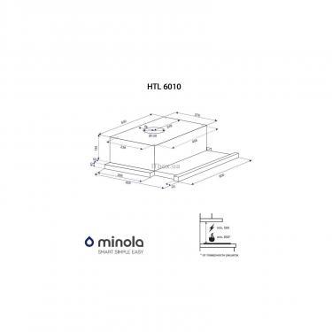 Вытяжка кухонная Minola HTL 6010 WH 430 Фото 5