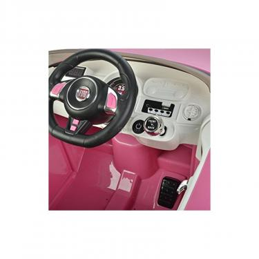 Электромобиль BabyHit Fiat Z651R Pink (71142) - фото 6