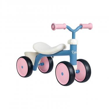 Беговел Smoby металлический, четырехколесный Розовый (721401) - фото 1
