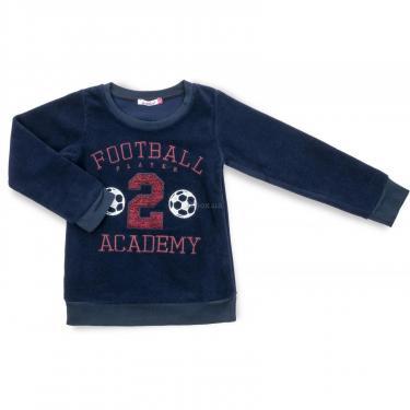 """Пижама Matilda флисовая """"FOOTBALL ACADEMY"""" (7536-3-134B-blue) - фото 2"""