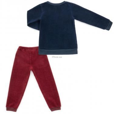 """Пижама Matilda флисовая """"FOOTBALL ACADEMY"""" (7536-3-134B-blue) - фото 4"""