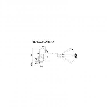 Кухонний змішувач BLANCO CARENA хром (520766) - фото 2