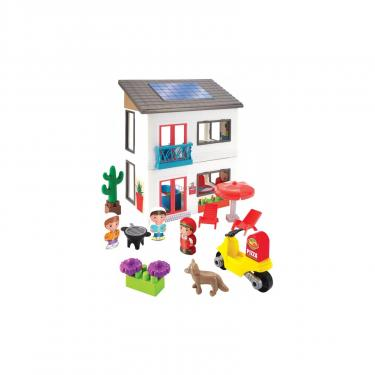 Игровой набор Ecoiffier Современный дом с мотоциклом и 2 героями Фото