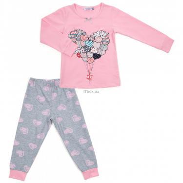 Пижама Matilda с сердечками (12101-3-164G-pink) - фото 1