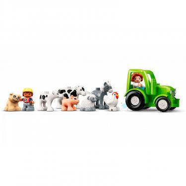 Конструктор LEGO Duplo Фермерский трактор, домик и животные Фото 4