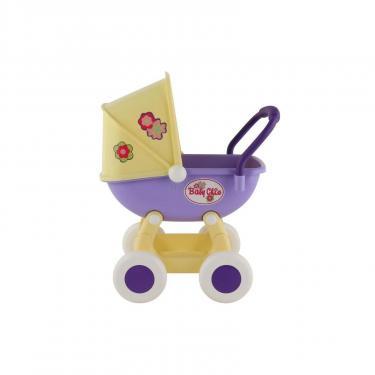 Коляска для кукол Polesie Arina 4-х колёсная в пакете Бежево-розовая Фото 1