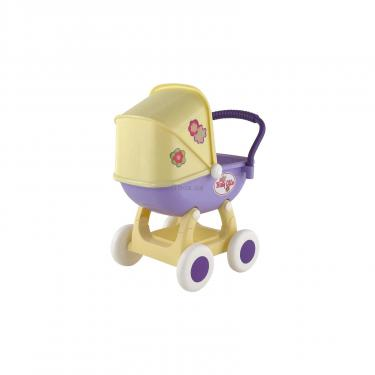 Коляска для кукол Polesie Arina 4-х колёсная в пакете Бежево-розовая Фото 2