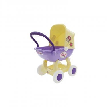 Коляска для кукол Polesie Arina 4-х колёсная в пакете Бежево-розовая Фото 3