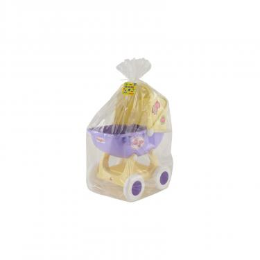 Коляска для кукол Polesie Arina 4-х колёсная в пакете Бежево-розовая Фото 4
