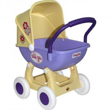 Коляска для кукол Polesie Arina 4-х колёсная в пакете Бежево-розовая Фото