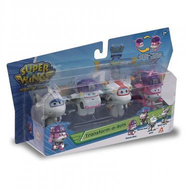 Игровой набор Super Wings Transform-a-bots, 4 фигурки-трансформеры, Диззи сп Фото 1