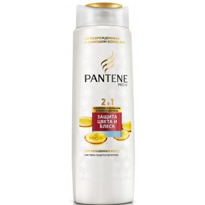 Шампунь Pantene 2 в 1 Защита цвета и блеск 400 мл (4015600837792)